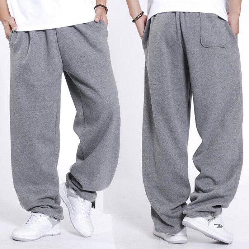Men's Hip Hop Streetwear Sweatpants Men Joggers Cotton Sweat Pants Loose Baggy Track Trousers