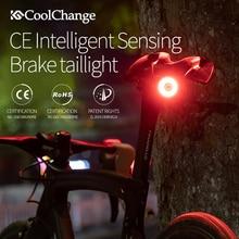 CoolChange Fahrrad Smart Licht Bremse Sensor Intelligente Radfahren Lampe MTB Rücklicht Rennrad Zubehör Nacht Reiten Fahrrad Licht