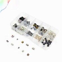 250 stücke 10 Arten Tactile Push Schalter Auto Tasten Fernbedienung Taste Mikroschalter + Box Juli DropShip