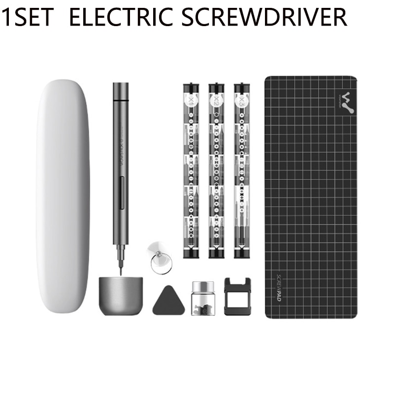 64 In 1 Mini Electric Screwdriver Rechargeable Cordless Power Screw Driver Kit With LED Light Lithium Battery For Wowstick 1F+