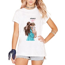 Super maman t-shirt femmes mère fille tenues t-shirt maman maman Vogue garçon filles t-shirts hauts cadeau pour les femmes