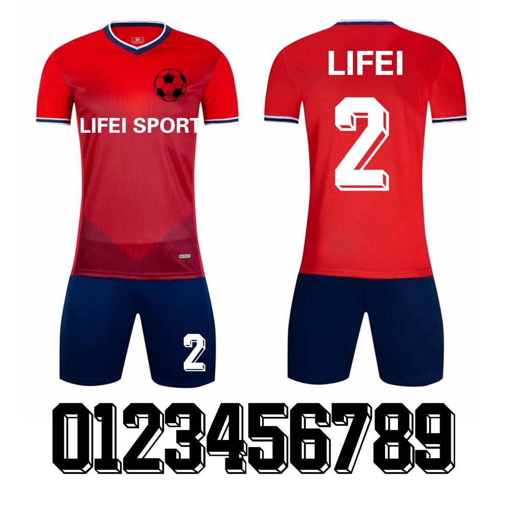 AliExpress - 6 Colorful Adult Soccer Jersey Children's Sportswear Professional DIY Customization Football Team Training Set Running T-Shirt