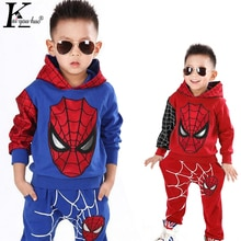 Ensemble de vêtements automne-hiver pour garçons   Tenue de pâques Spiderman, pour enfants de 3-6-7 ans