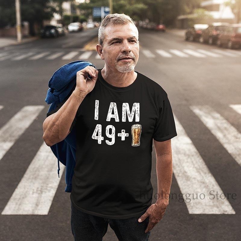 Camiseta de cerveza I Am 49 Plus 1, divertida camiseta de cerveza 49 Plus 1 camisa 50 años de edad, camiseta de cumpleaños para mujeres y hombres, camiseta Unisex