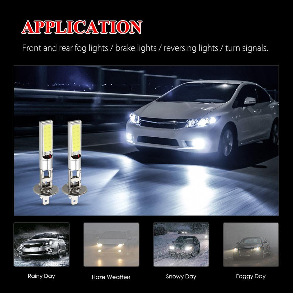 4PCS H1 SMD Car LED Headlight 100W 6000LM Fog Lights Conversion Kit 12V LED Lamps/Light Bulbs For Cars High/Low Beam 6000K