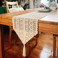boho lace table runner white lace and dresser scarf rectangle tablecloths dust cover for wedding party home hotel decor