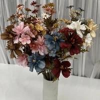 Tissu en soie chrysantheme multicolore artificiel  60cm  materiel darrangement de plante de mariage  decoration dhotel  de fete du nouvel an  de maison