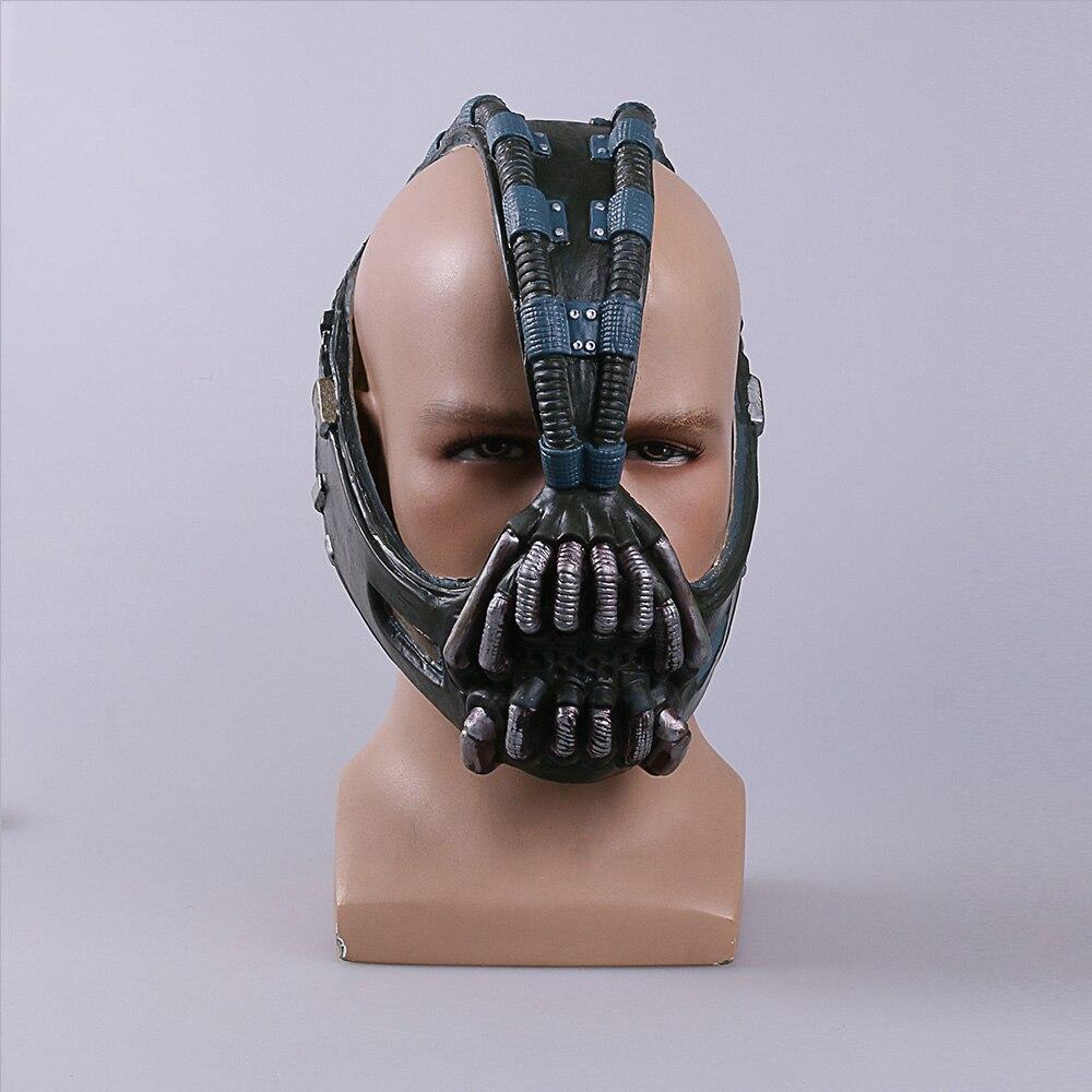 Cos Бейн маски Бэтмена реквизит для косплея Темный рыцарь латексная маска полный дышащий для Хэллоуина
