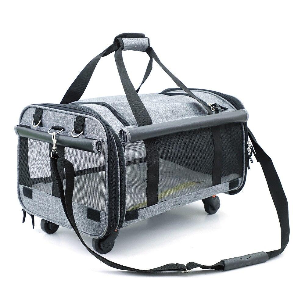 Bolsa de viaje para perros, bolsa de malla transpirable para mascotas, bolsa de gran capacidad para mascotas, bolsa plegable para perros, suministros para mascotas