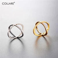 collare x criss cross ring goldsilver color cubic zirconia bridal engagement pave x ring jewelry women x cross ring r003