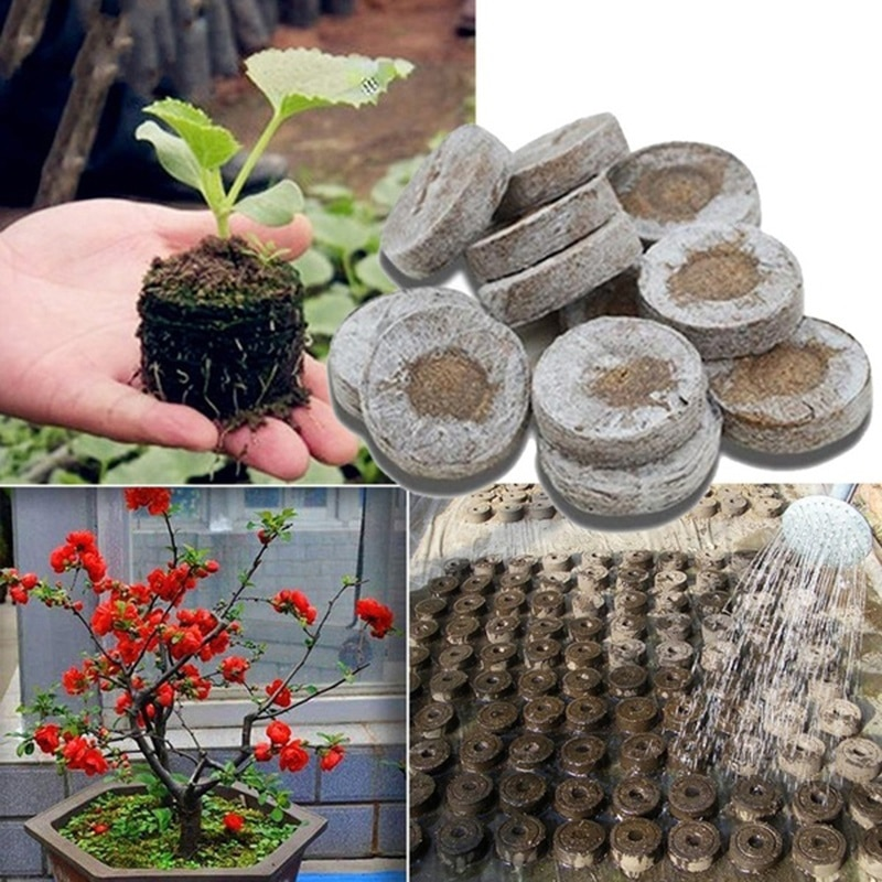 Pellets de turba de 30mm, tapones de arranque de semillas, palé de iniciación, sustancias nutritivas, planta de semillero media, bloque de siembra de flores 2 2