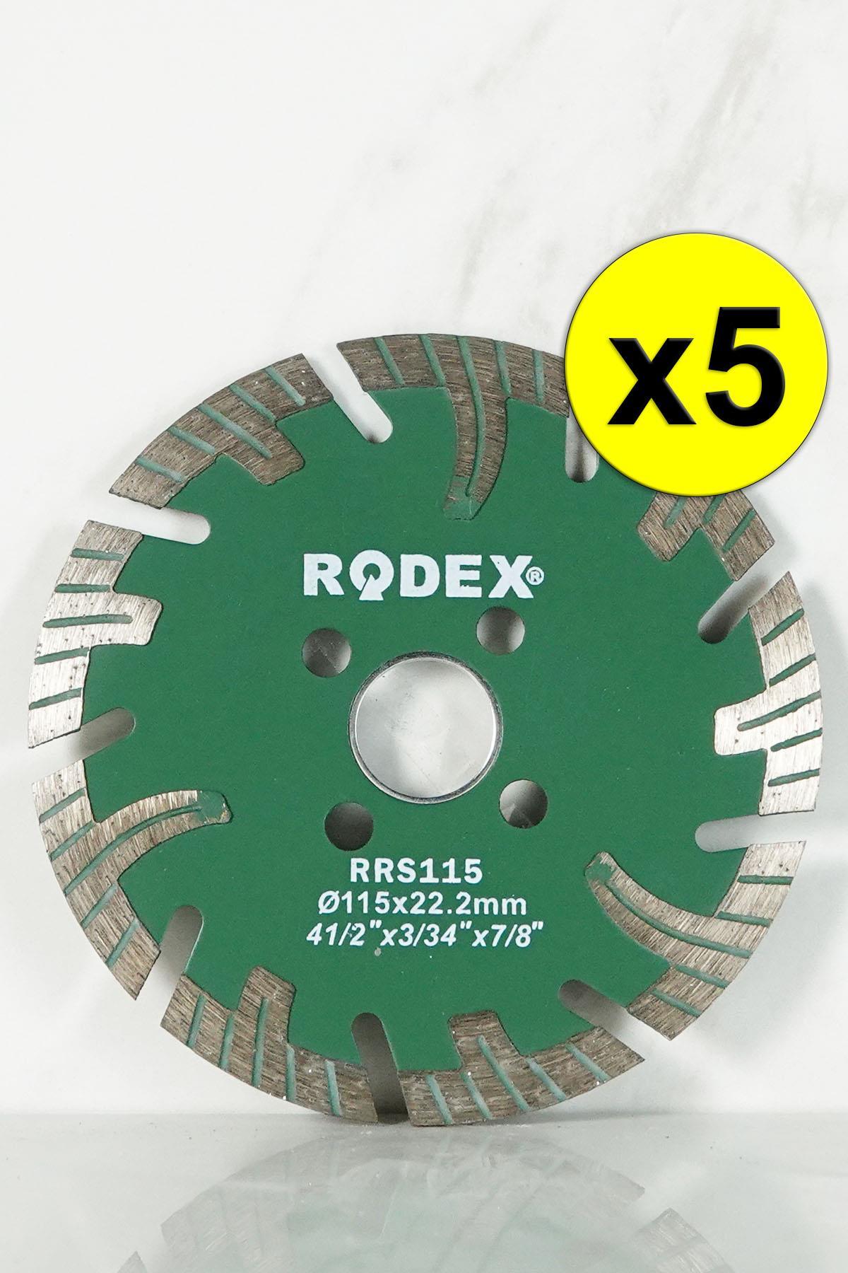 Rodex RRS125 Channel Turbo Diamond Cutting Disc for Marble, Brick, Granite, Stone 125mm 5 Pcs