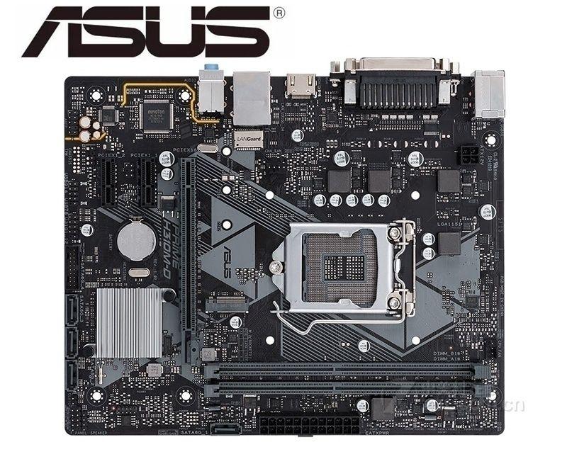 تستخدم ل ASUS PRIME H310M-D اللوحة الأم الأصلي ل ASUS إنتل LGA 1151 DDR4 I3 I5 I7 USB2.0 USB3.0 USB3.1 اللوحة الرئيسية