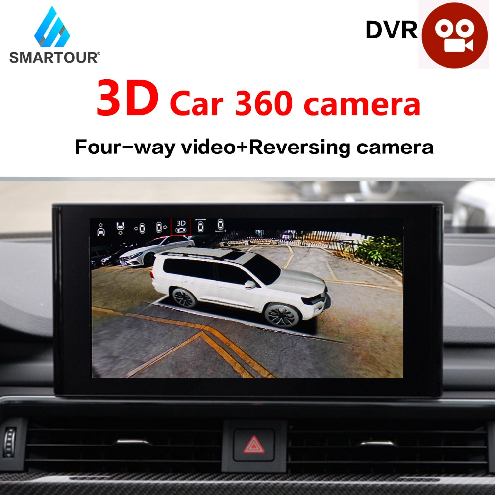 3D 1080P HD 360 Degree Bird View Surround System Panoramic View All Round View DVR Camera Quad-Core