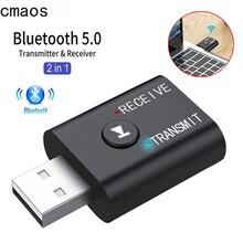 2 In1 adattatore Bluetooth Wireless USB 5.0 trasmettitore Bluetooth per Computer TV altoparlante per Laptop adattatore per cuffie ricevitore Bluetooth