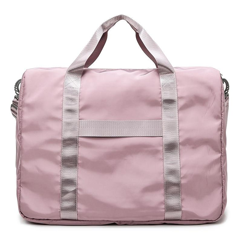 Foldable Portable Travel Bag Women Soft Clothes Duffel Organizer Luggage Trip Package Handbag Weekend Big Overnight