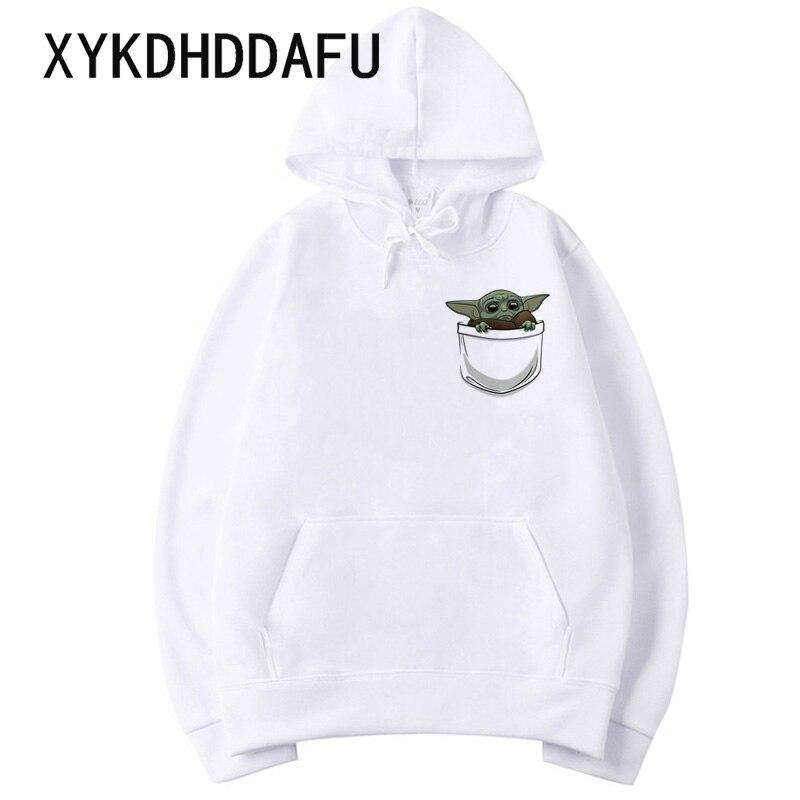 Mandalorian Hoodies Baby Yoda Men/women Sweatshirt Star Wars Moive Graphic Hood Hooded Harajuku Male/female Clothes Funny