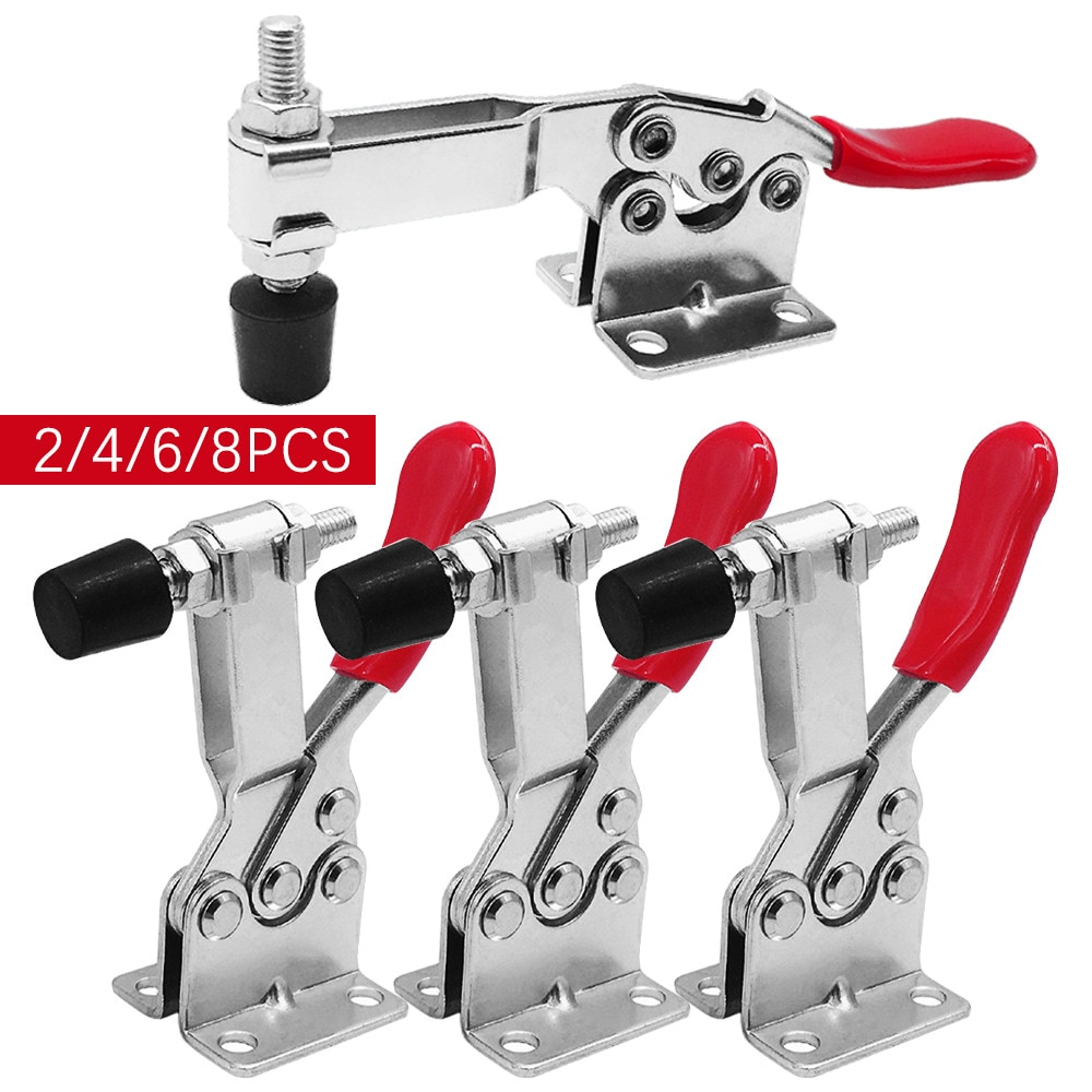 2/4/6/8pcs/set Red Toggle Clamp GH-201B 100kg Quick Release Tool Horizontal Clamps Hand New Heavy Duty Tooling Accessory
