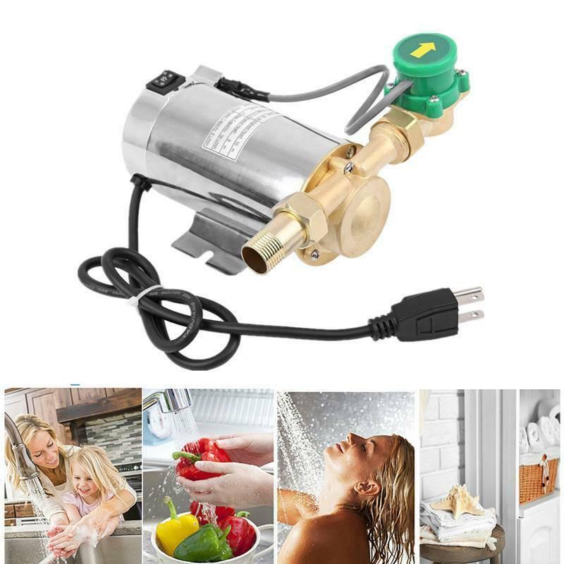 Yonntech 90W 110V Water Booster Pump Electronic Automatic Home Shower Washing Machine