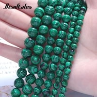 natural stone malachite green beads round green loose beads for jewelry diy making bracelet accessories 15 6810mm beadtales