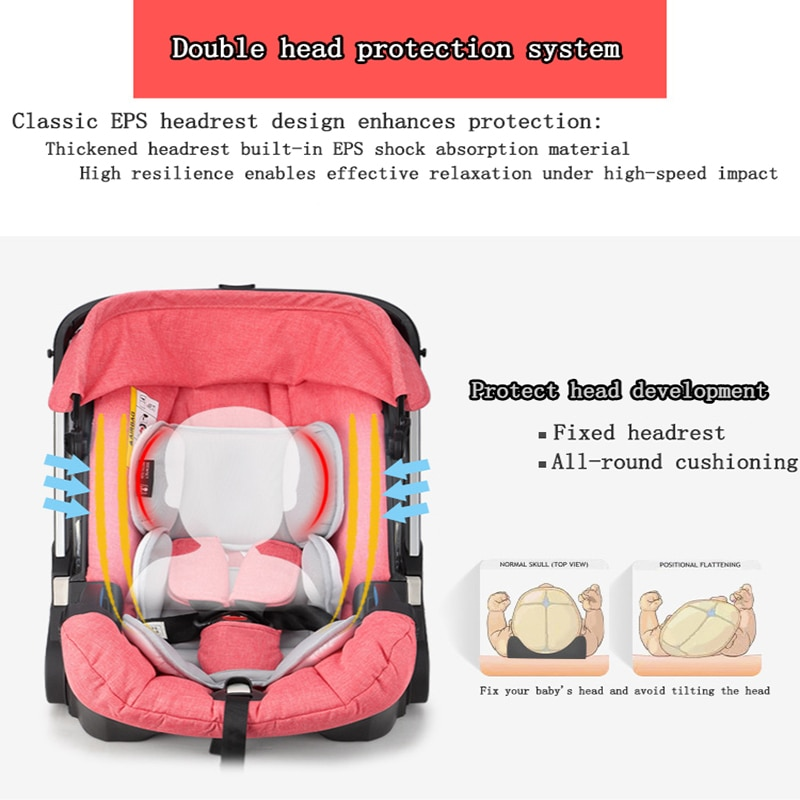 Baby Carrier Strollers 4-in-1 Infant Car Seat and Buggy Multi-function Dual-use Baby Bassinet Mother Travel Cart enlarge