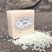 jam rice milk soap 65g original thailand import rice milk soap whitening soap goat milk soap handmade soap for face