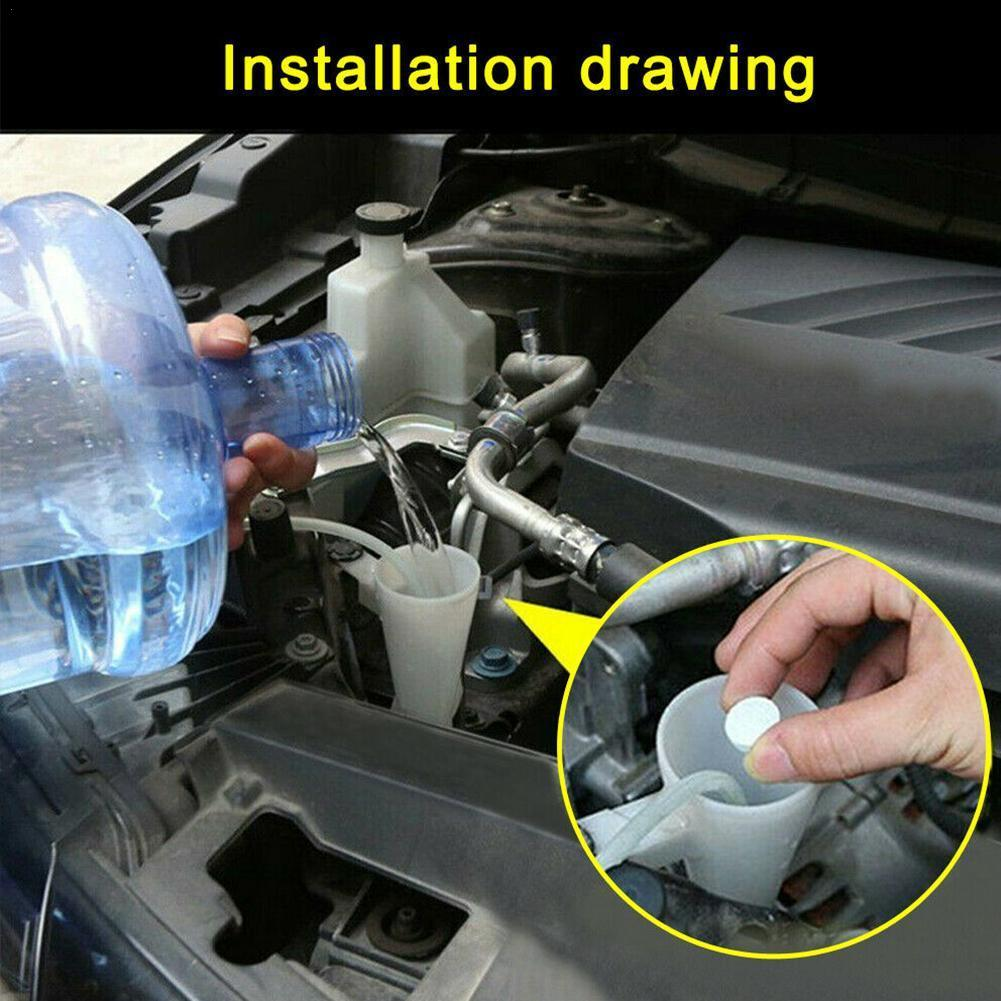 Car Windshield Wiper Glass Washer Car Solid Cleaner Compact Effervescent Sheet Car Window Repair Auto Parts