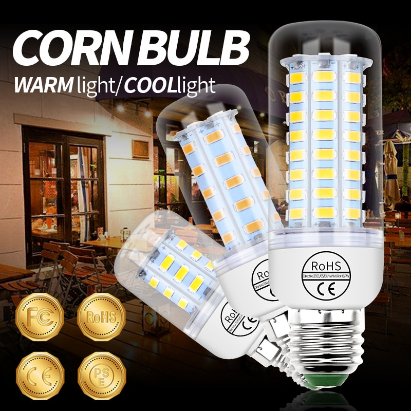 tsleen high quality 4014 smd no flicker led corn bulb e27 e14 220v led lamp light b22 g9 gu10 36 56 72 96 138leds smart power ic GU10 LED Bulb G9 LED Lamp E27 Corn Bulb 220V E14 Candle Light B22 Bombillas 24 36 48 56 69 72leds Lighting SMD 5730 Home Lampada