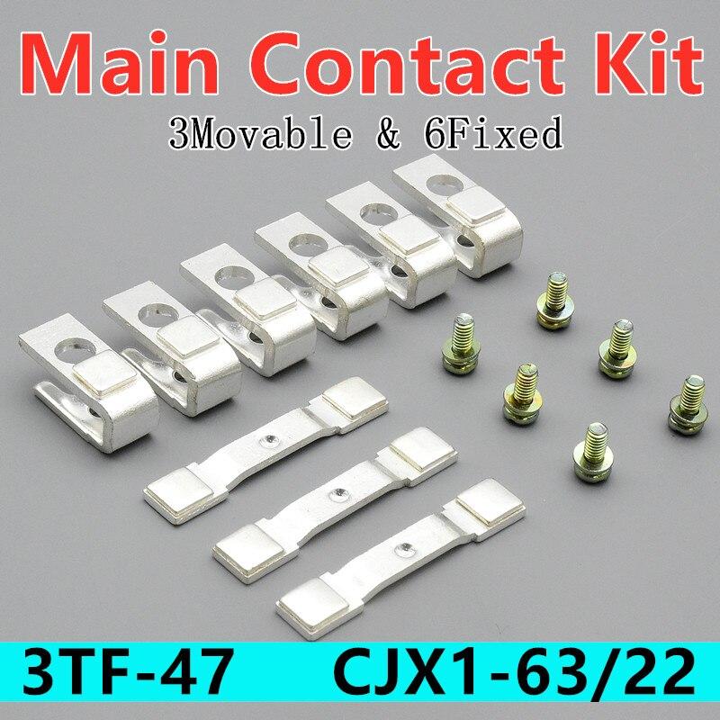 Kit de contacto principal 3TY7470-0A para Contactor 3TF47, piezas de repuesto CJX1-63/22,...