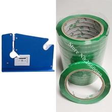 Metall Tasche Neck Band Sealer 12mm Metall Band Dispenser mit Trimmer Cutter & 10 stücke band 11mm breite 100m Länge