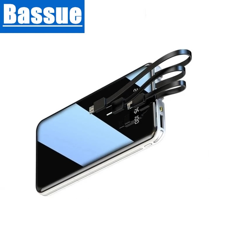 Mobile Power Bank 50000mAh Full Screen 3USB Portable Outdoor Emergency Fast Charging External Battery for Samsung Xiaomi Iphone