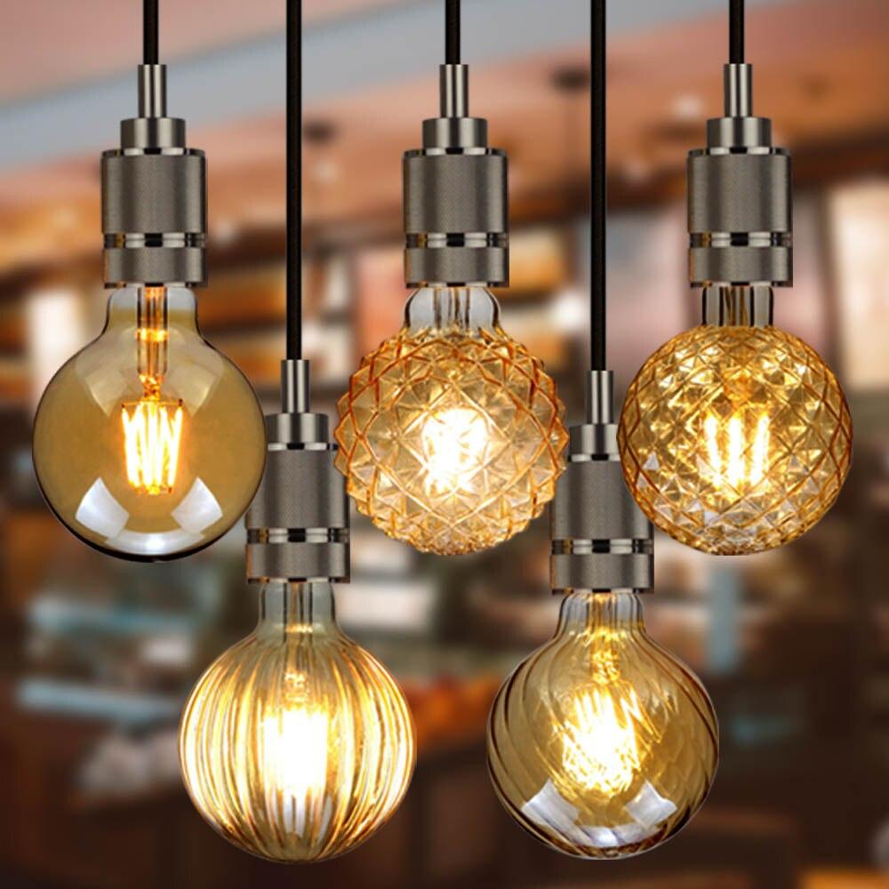 TIANFAN светодиодные лампы винтажная светильник ПА 4 Вт 220/240 В декоративная лампа G95 Кристально Чистая лампа Эдисона
