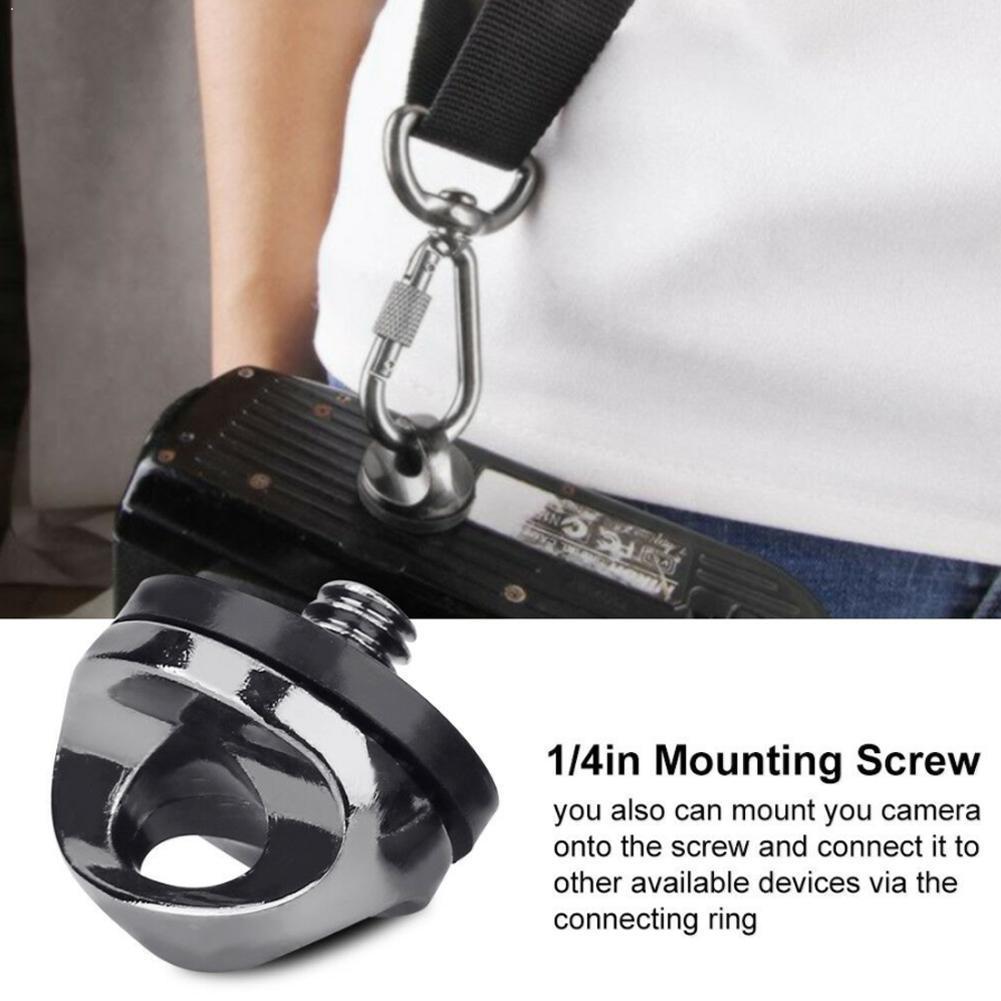 Accesorios de tornillo de cámara Mini monopié trípode soporte montaje adaptador correa de cámara tornillo hombro SLR caja I4S3