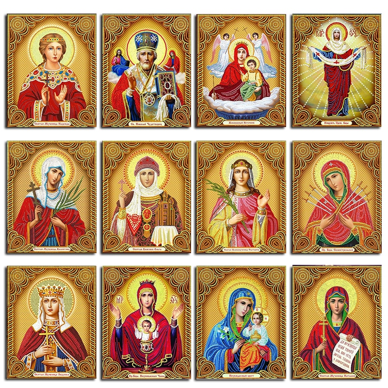 MUXUN DIY Diamond Painting Madonna Full Square Diamond Embroidery Religion Home Decoration 5D Diy Mosaic Home Rhinestone Gift