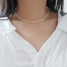AA perle deau douce blanc/rose/violet 3-4mm chocker collier 16 pouces rond perles en gros nature FPPJ femme 2019