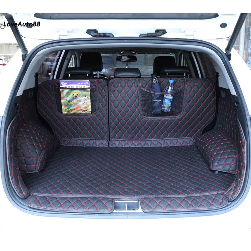 Car trunk mats cargo Liner For KIA Sportage QL 2020 2019 2018 2017 2016 Car Pad full cover case carpet rugs Car Stylings enlarge