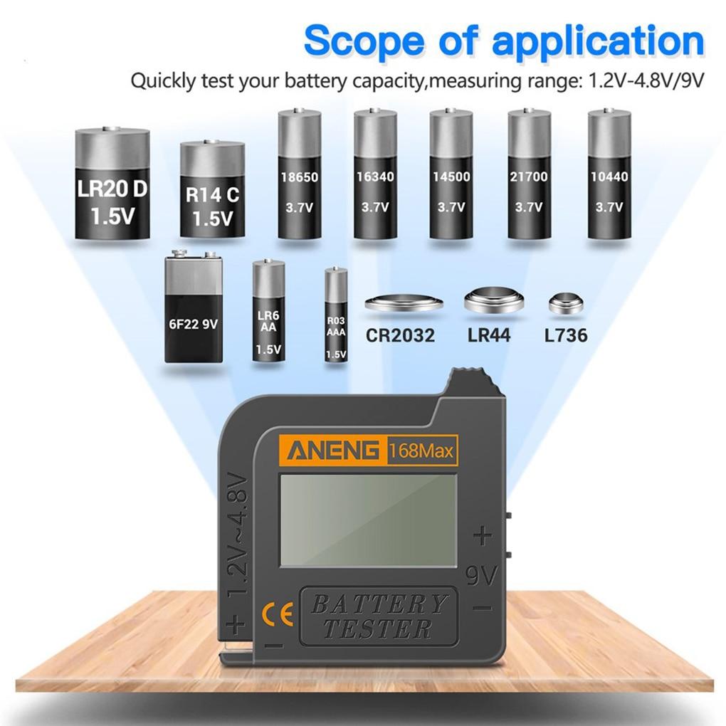 Тестер емкости литиевых батарей 168Max, универсальный анализатор емкости литиевых батарей, для кнопочных ячеек АА типа AAA