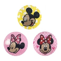 3pcs backpack clothing velcro 5d diy cute animal diamond painting epaulette badge special shaped rhinestone embroidery sticker