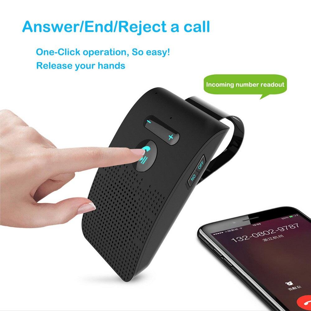 Bluetooth 5,0 Kit manos libres para coche altavoz fuerte reproductor de música MP3 Sun Visor Clip receptor de Audio inalámbrico Universal para BMW Audi
