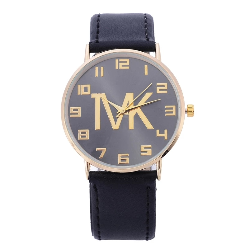 Top Brand Womens Simple Watches Fashion High Quality Leather Quartz Rose Gold Dial Dress Casual Wristwatch Reloj Mujer