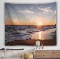 yaapeet polyester sunset printed wall tapestry beach pattern hanging tapestry fashion pretty minimalism landscape wall decor