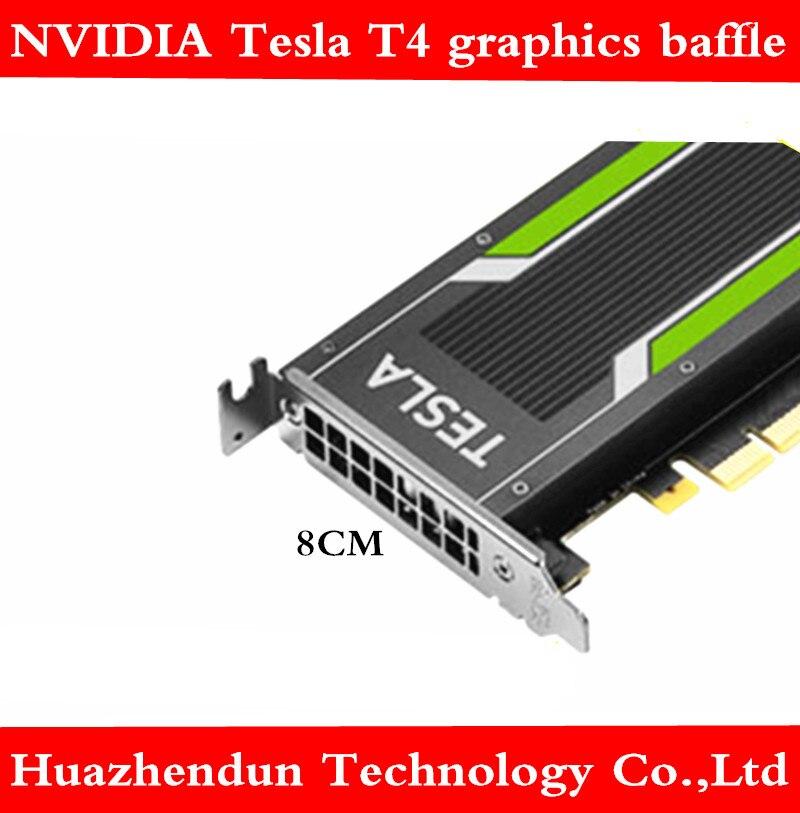 Nvidia tesla t4 gpu gráficos defletor de baixo perfil 8 cm suporte para chassi pequeno 1pcs frete grátis