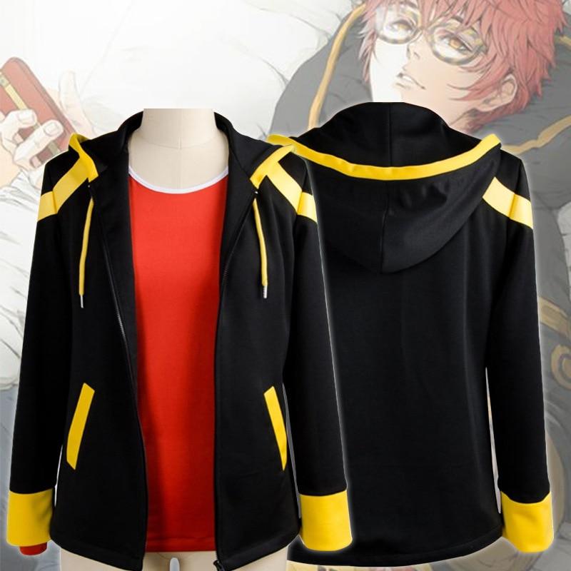 Nuevo Anime Mystic mensajero Cosplay traje 707 Saeyoung Luciel Choi traje de Halloween Disfraces con capucha chaqueta con capucha abrigo camiseta