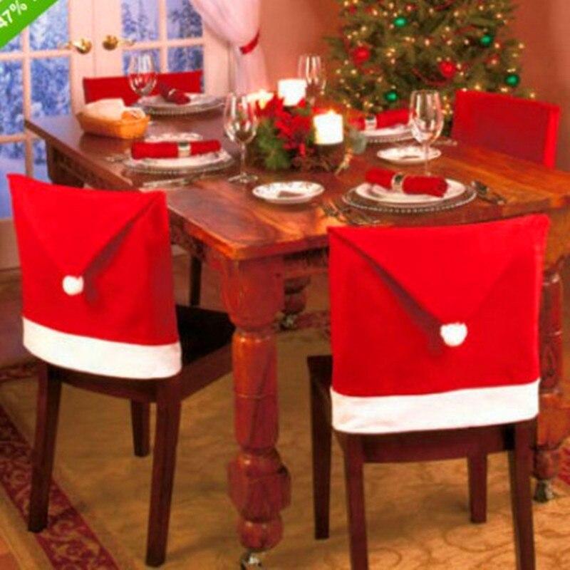 Adornos navideños Para El Hogar, cubierta De Silla, decoración navideña, Navidad, Hogar,...