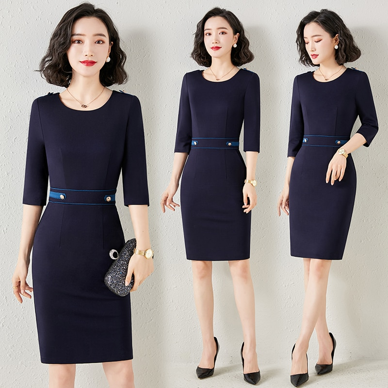 Building Sales Department Workwear Female High-End Business Dress Temperament Goddess Style Jewelry