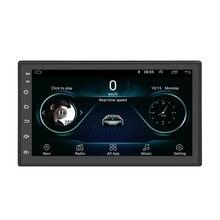 2Din Android voiture lecteur multimédia RAM 1G + ROM 16G GPS Navigation BT FM USB WIFI 7 voiture 2 DIN Autoradio stéréo