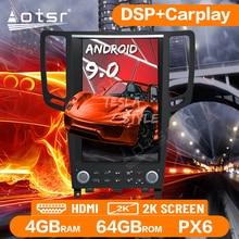Autoradio Tesla Style Android 9.0 PX6 pour Infiniti GX G37/G25/G35 2008-2014 lecteur multimédia Navigation GPS Auto Audio Carplay