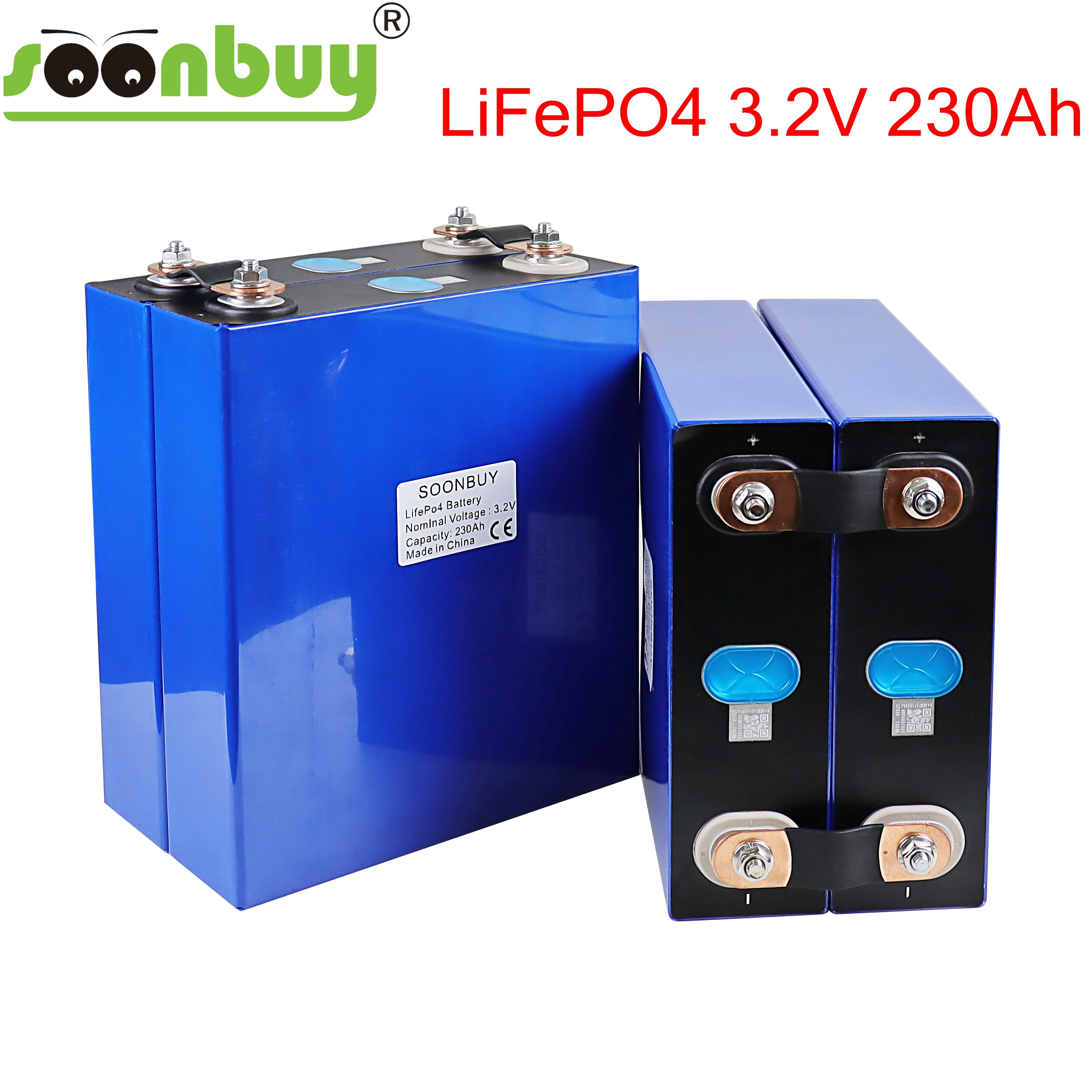 New 3.2v 230ah lifepo4 battery 12v230ah 24v230ah lithium cell phosphate solar iron eu usa russia fast delivery tax free