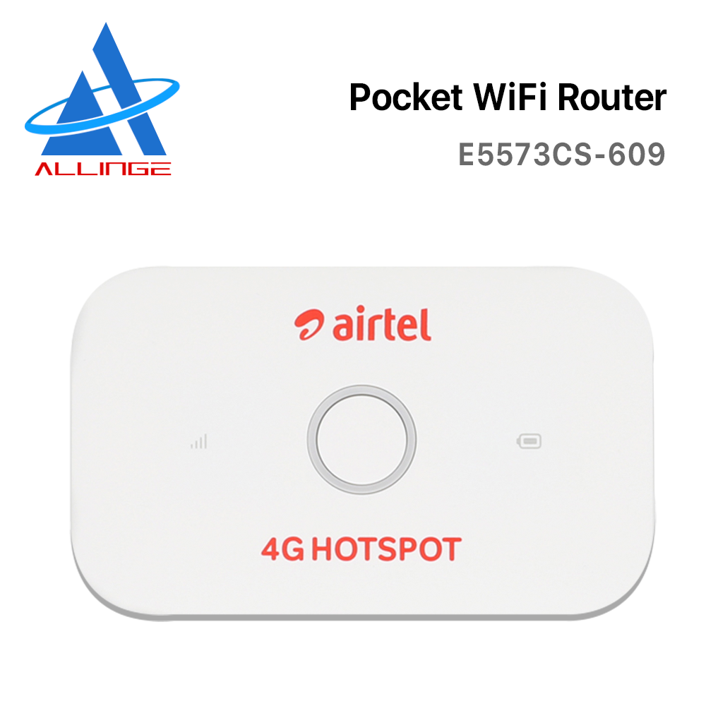 ALLINGE مقفلة E5573cs-609 Airtel 4g LTE راوتر جيب لاسلكي سيم بطاقة هوت سبوت واي فاي صغير مشاركة مودم E5573 العصابات B1B3B5B40