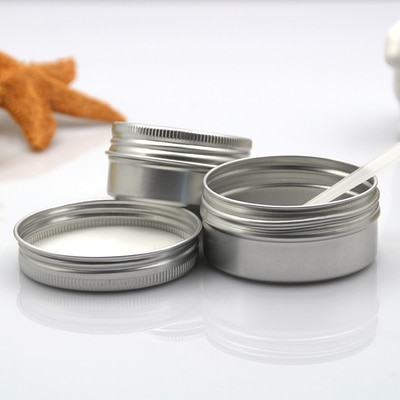 100 Uds tarro vacío de aluminio para crema lata de labios cosméticos recipientes para bálsamo decoración de uñas artesanías bote tapa rosca tornillo 200g/300g
